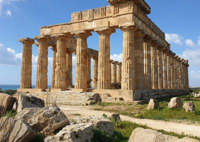 esterno del tempioi e di Selinunte
